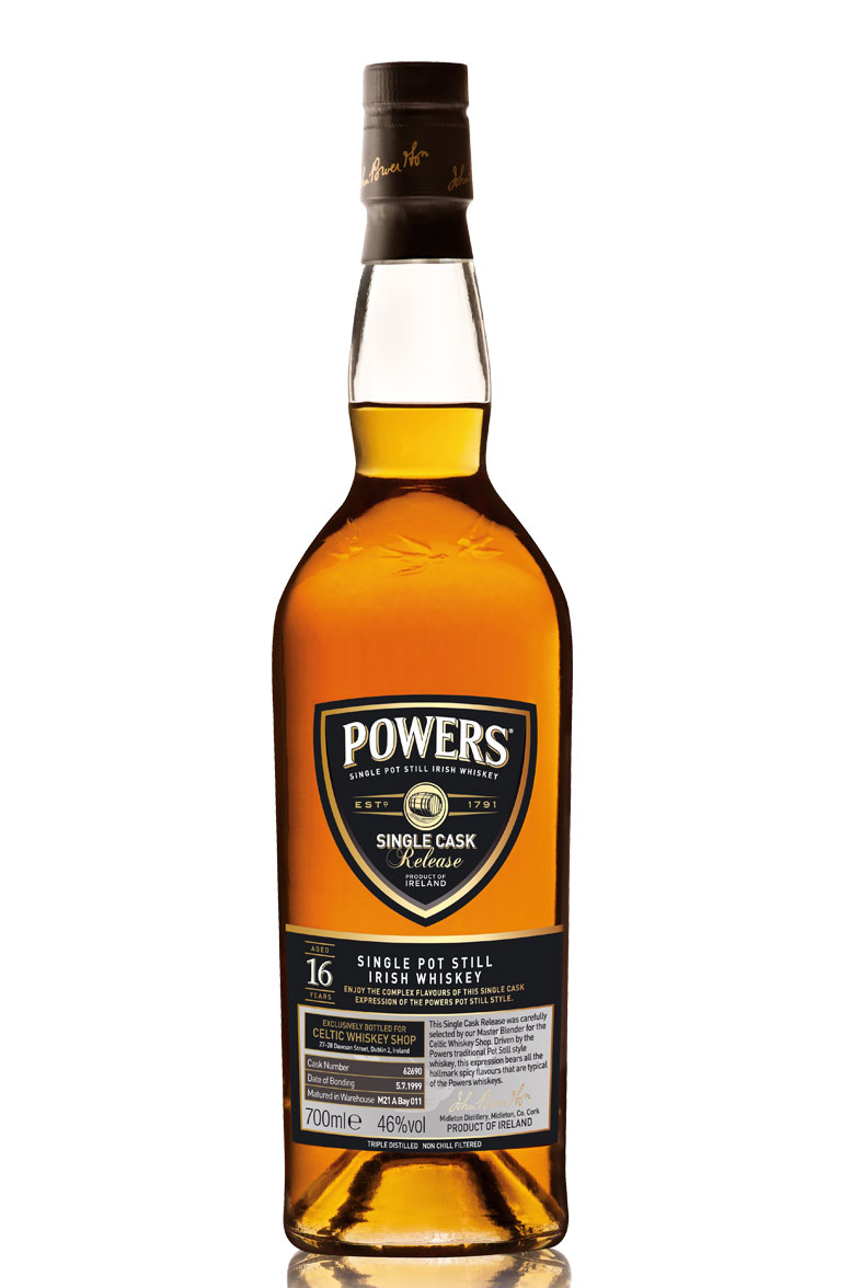 Powers 16 Year Old Celtic Whiskey Shop Exclusive Single Cask