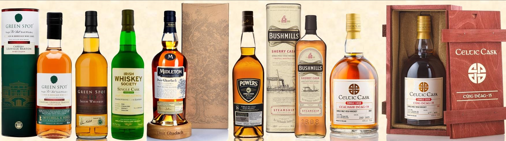 Paddys Day Irish Whiskey Tasting Lineup